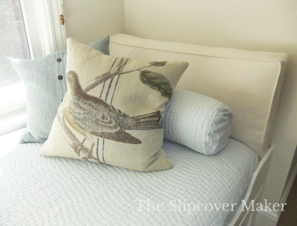 Natural Denim Cushion with Foam Insert