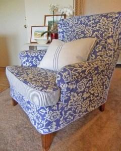 Blue Floral Slipcover by Karen Powell