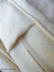 hemp slipcover cushion boxing