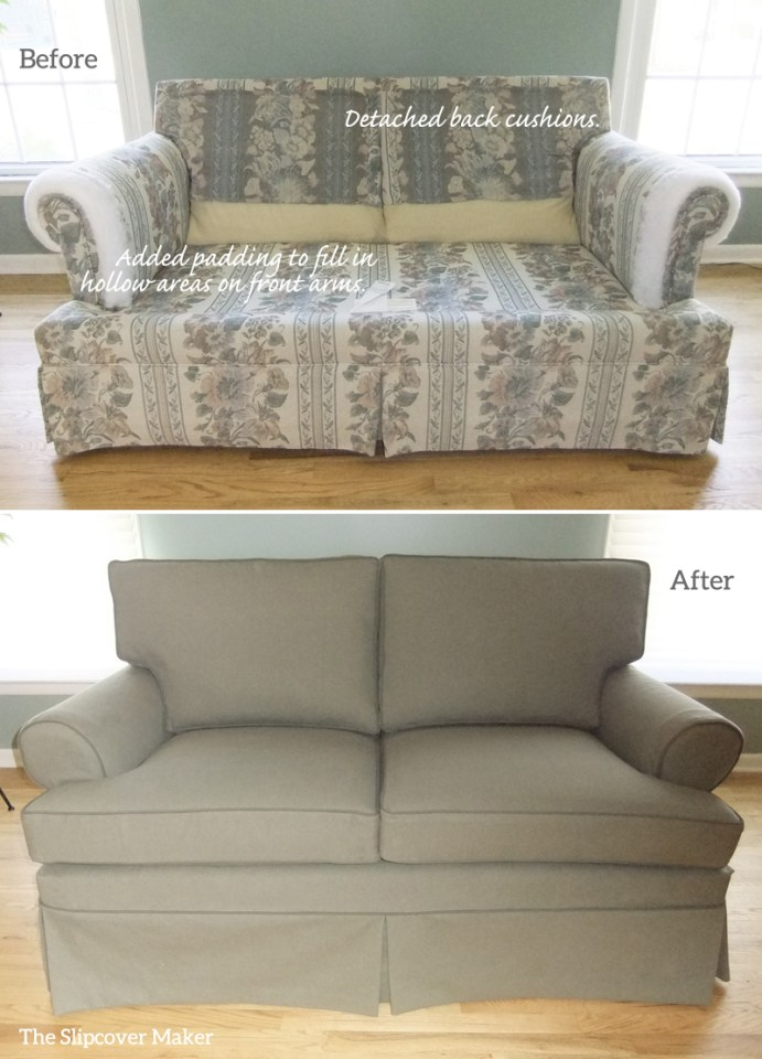 Denim Slipcover for Ethan Allen Loveseat