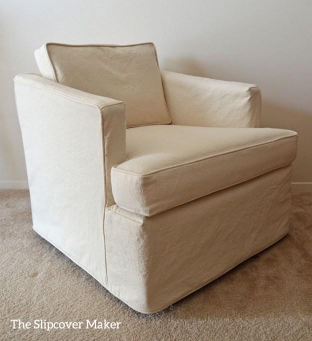 Natural Canvas Slipcover for Henredon Chair