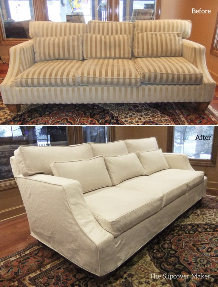 Nine Cushion Sofa Slipcover
