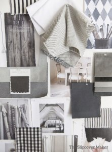 Grey Slipcover Fabric Inspiration
