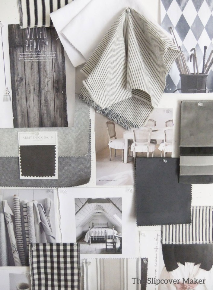 Grey Slipcover Fabric Inspiration