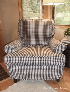 Chair Slipcover in Gingham Check