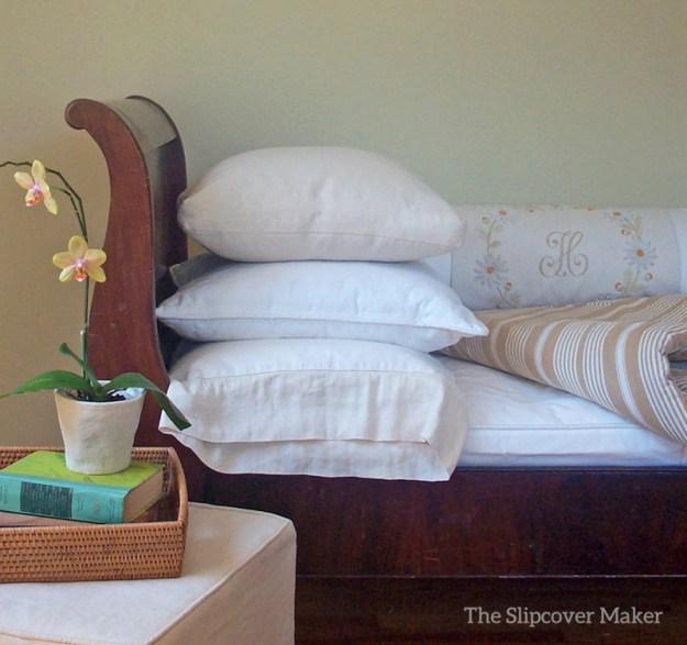 Custom Slipcovers for Sleigh Sofa