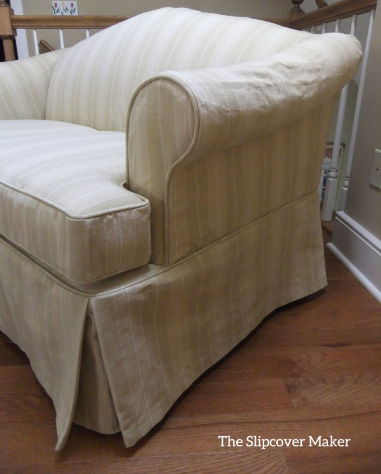 Bromley Awning Stripe Loveseat Slipcover
