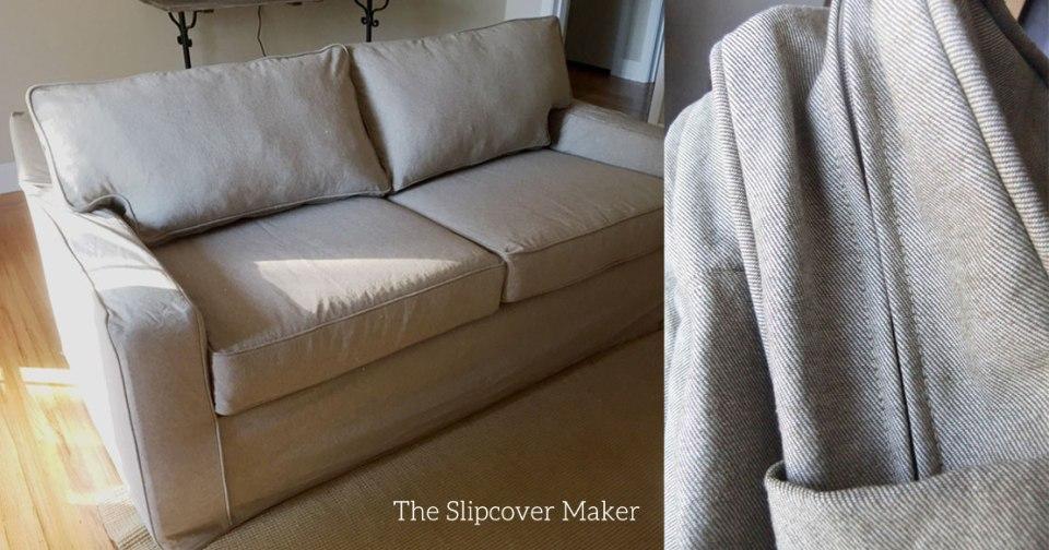 Reverse Denim Slipcover