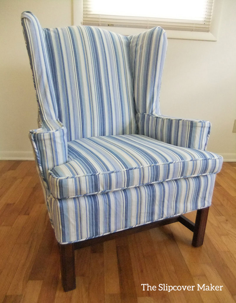 Woven Stripe Canvas Slipcover