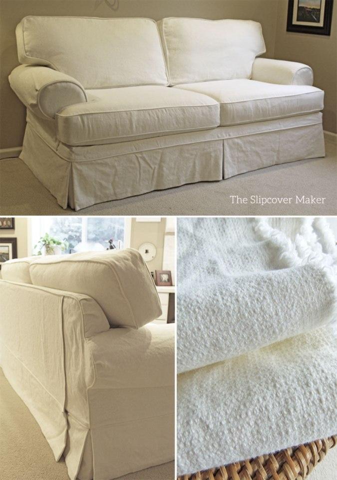 Texture Linen Cotton Sofa Slipcover Natural