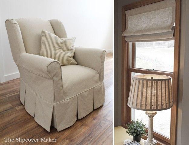 Cotton Linen Oatmeal Slipcover