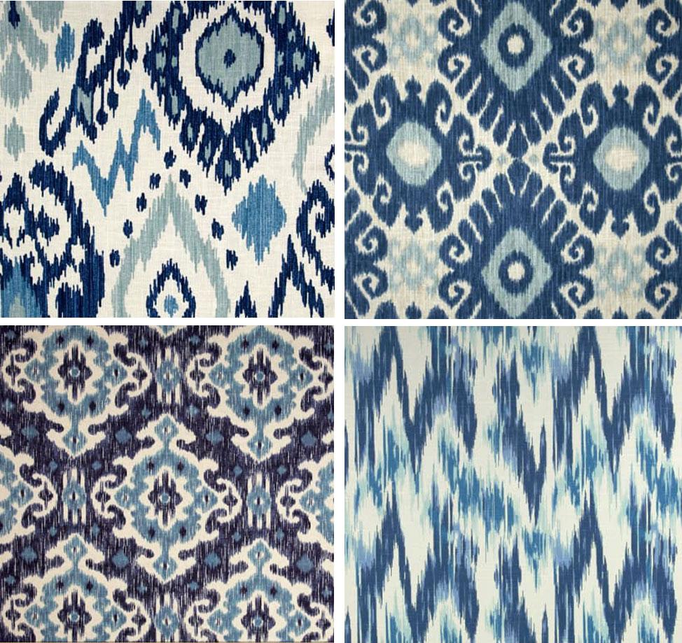 Slipcover Style: Indigo Ikats