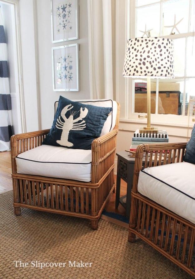White Denim Cushion Covers