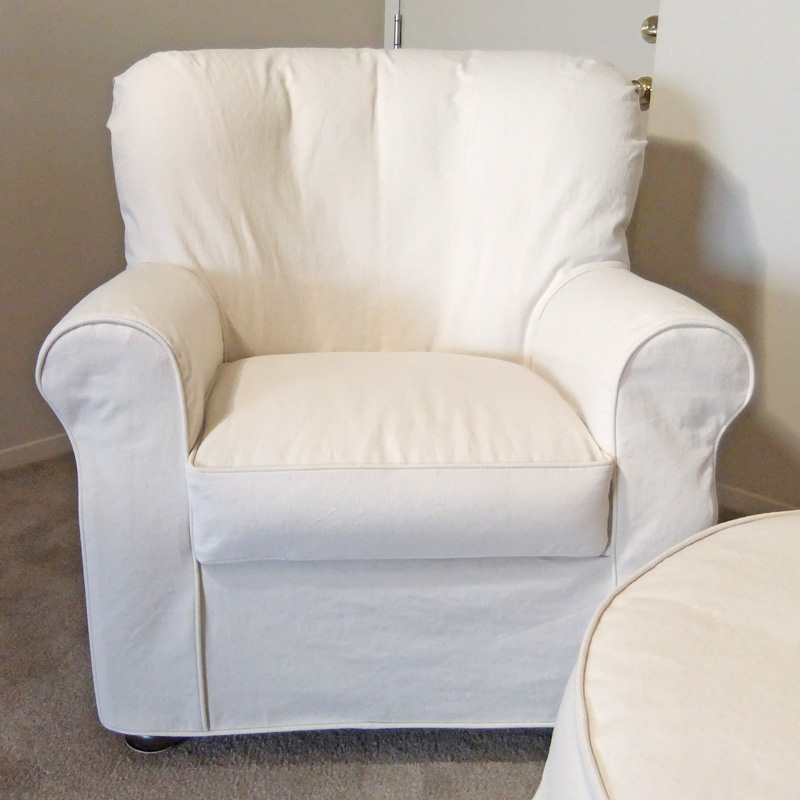 How-To Create a Fitted Slipcover for a Cushy Curvy Chair