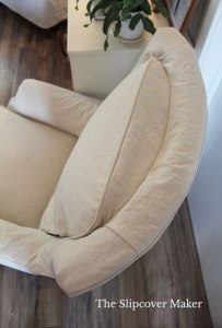 Natural Canvas Slipcover with Attached Back