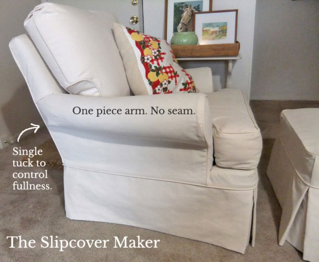 Slipcover Outer Arm Detail