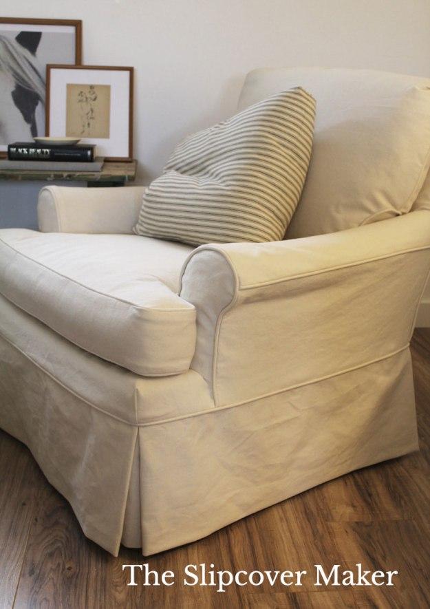 Slipcover Natural Denim for Armchair