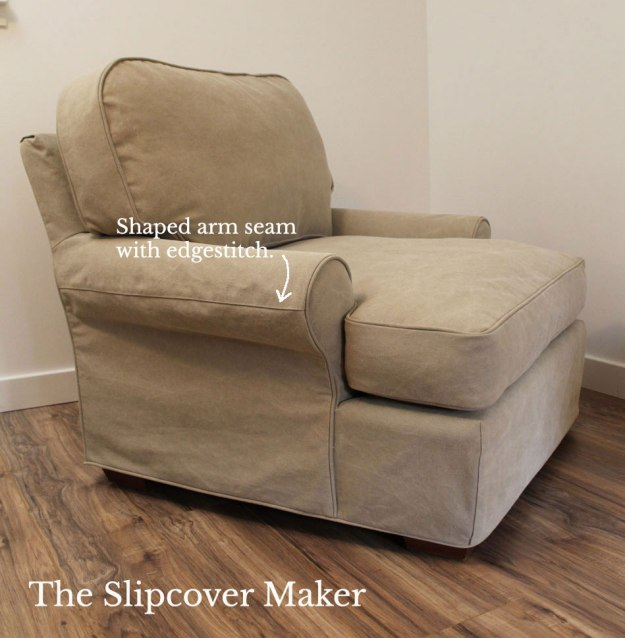 Khaki Canvas Chair Slipcover