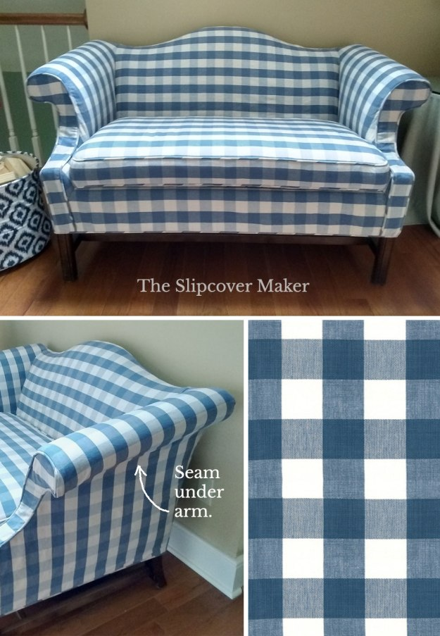 Buffalo Check French Blue Slipcover