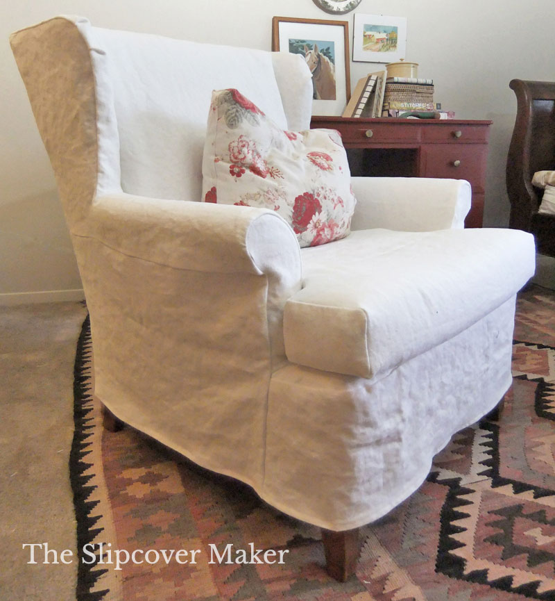 Easy To Make Washed Linen Slipcover