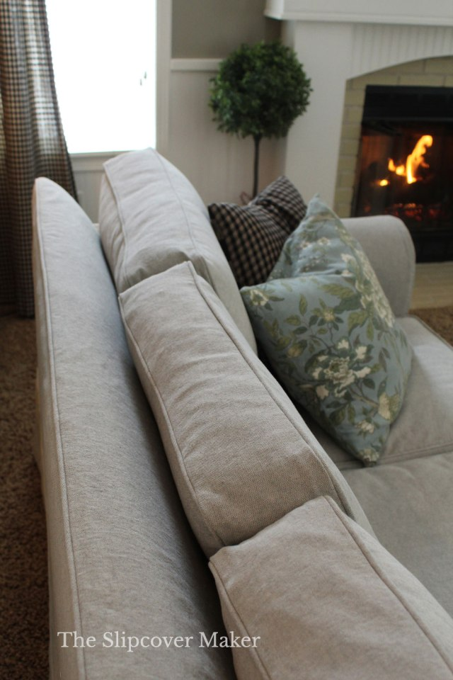 Grey Canvas Sofa Cushion Covers