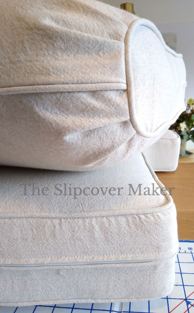 Loveseat Cushion Covers Oatmeal Cotton Linen