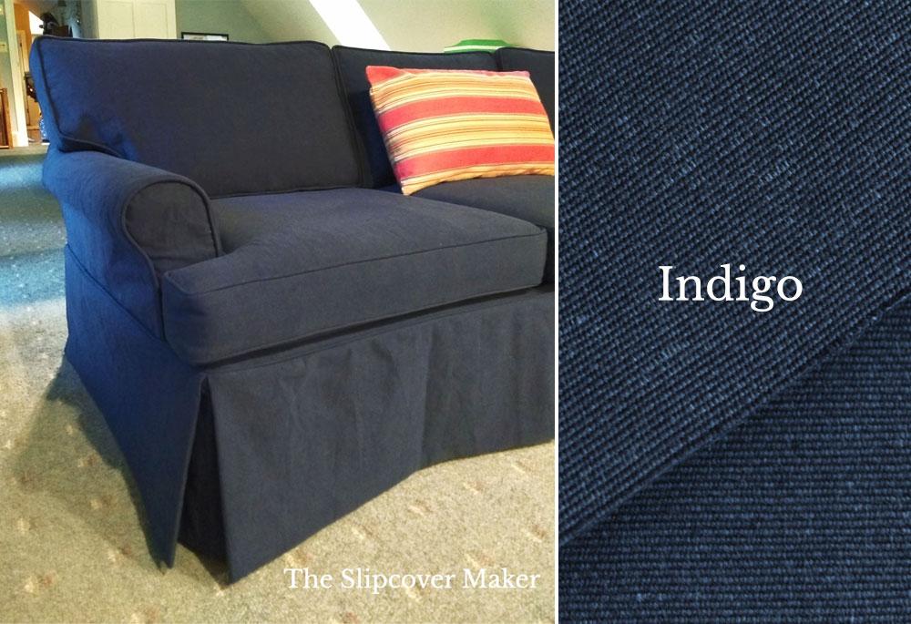 Slipcover Cotton Poly Canvas Indigo