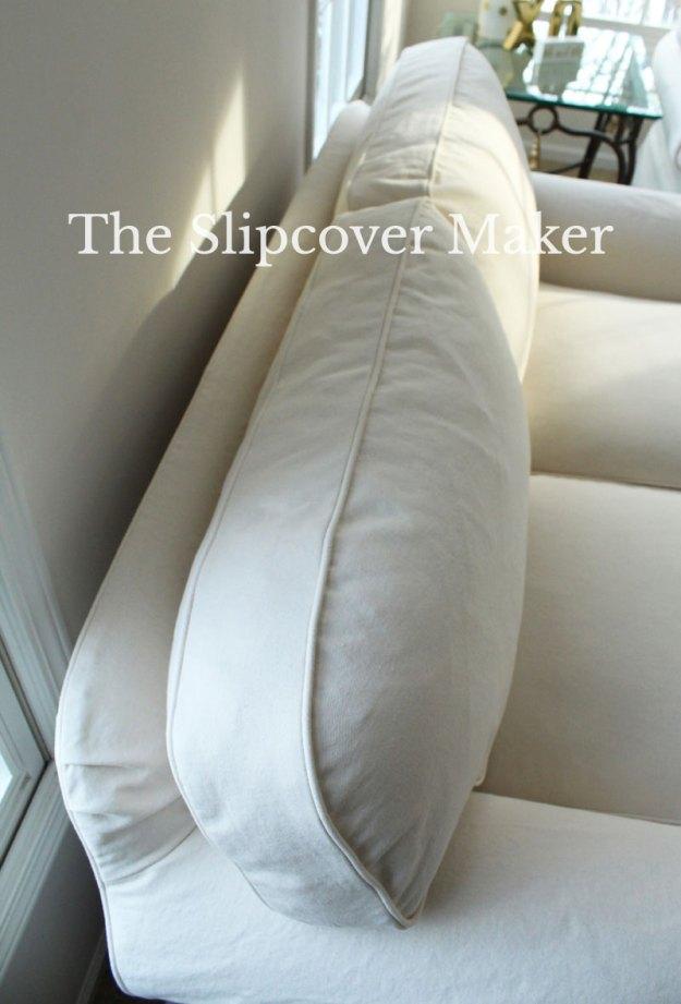 Natural Denim Box Cushion The Slipcover Maker