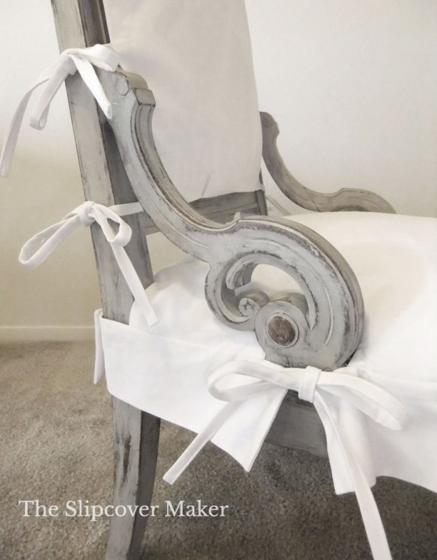 Ornate Chair with Simple Slipcover