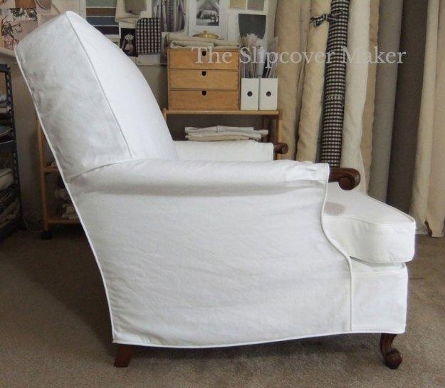 White Twill Slipcover Club Chair