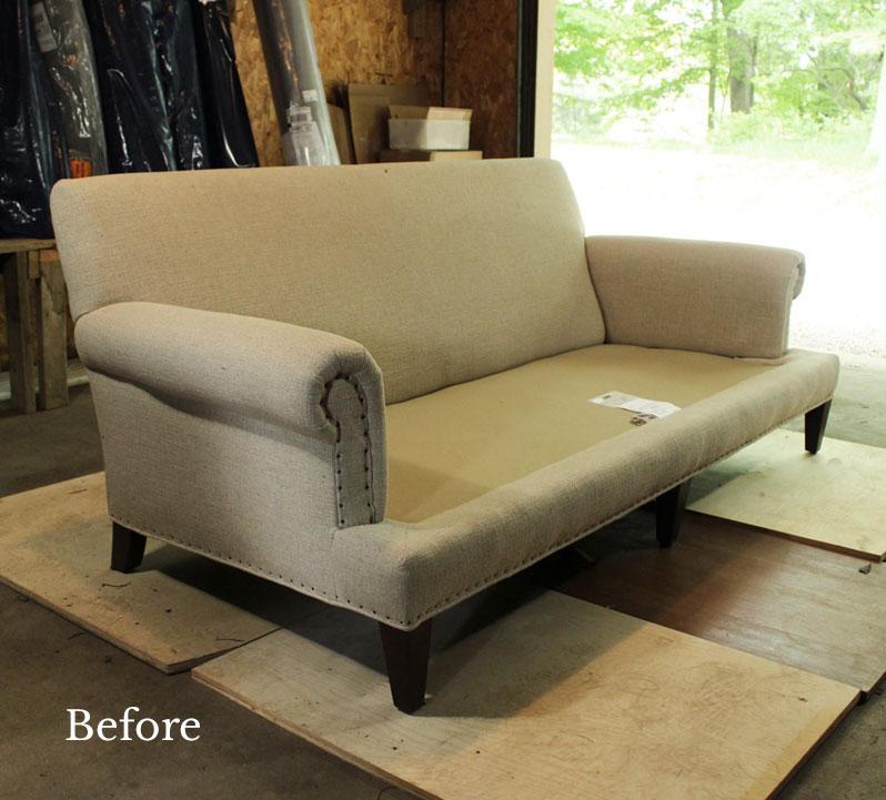 Preparing Lee Industries Sofa for Slipcover