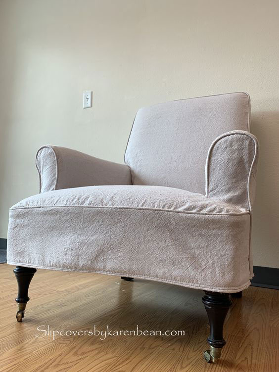 Canvas Drop Cloth Chair Slipcover Karen Bean