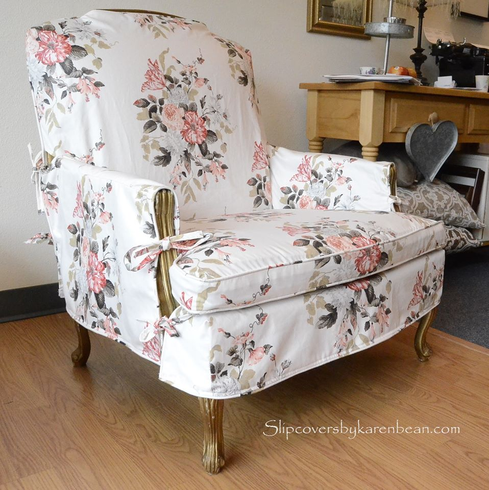 Tied Slipcover for French Chair