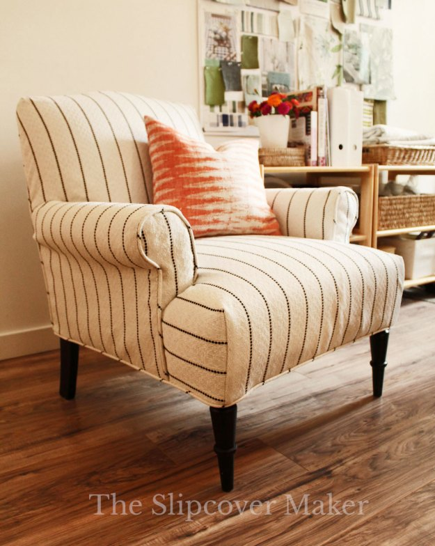 The Slipcover Maker Stripe Armchair