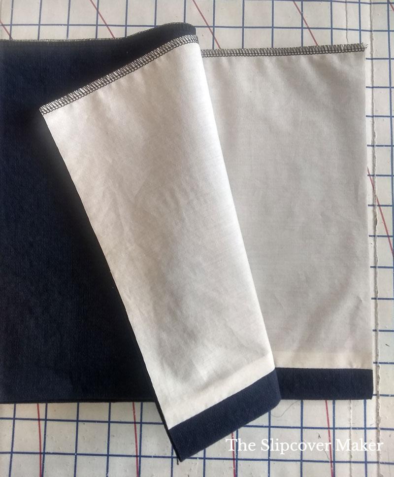 Slipcover Skirt Lining Close Up