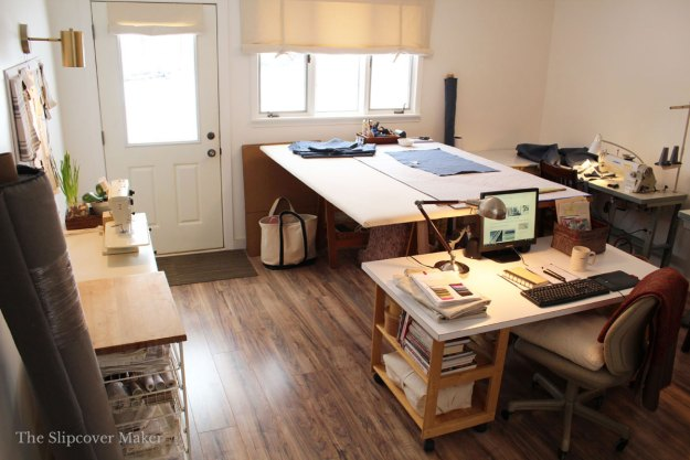 Slipcover Workroom Space Layout