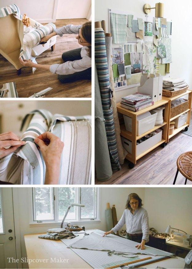The Slipcover Maker in her workroom.