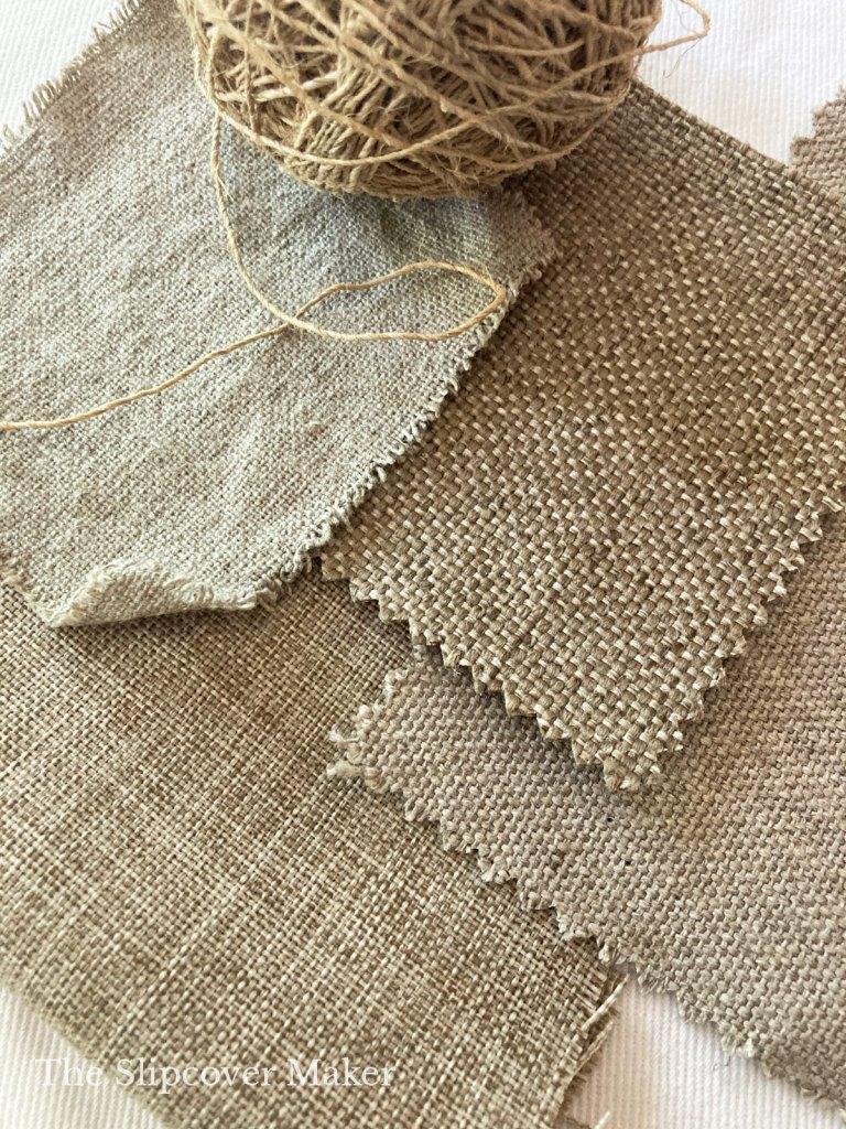 Beautiful Burlap-Like Fabrics for Rustic Slipcovers