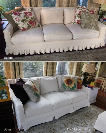 New Slipcovers for Thomasville Furniture   The Slipcover Maker Natural Denim Slipcover for Thomasville Furniture