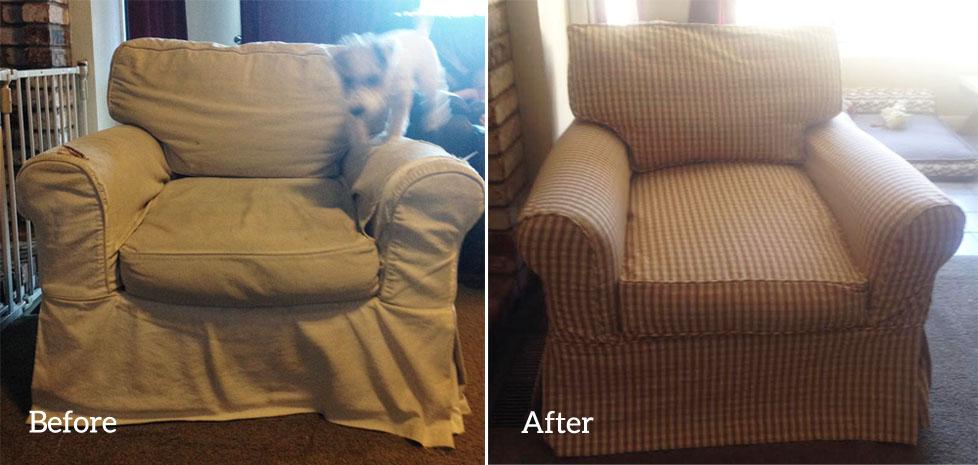 Gingham Slipcover For Restoration Hardware Chair The