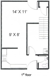 Colonies 2 Bedroom Townhouse Floor 1