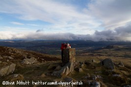 Bertie and Graham at the summit cairn