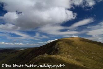 Looking back towards Pen Llithrig y Wrach...