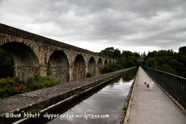 Chirk aqueduct on a gloomy day