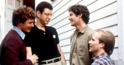 THE BIG CHILL, Tom Berenger, Jeff Goldblum, Kevin Kline, William Hurt, 1983, (c)Columbia Pictures/courtesy Everett Collection