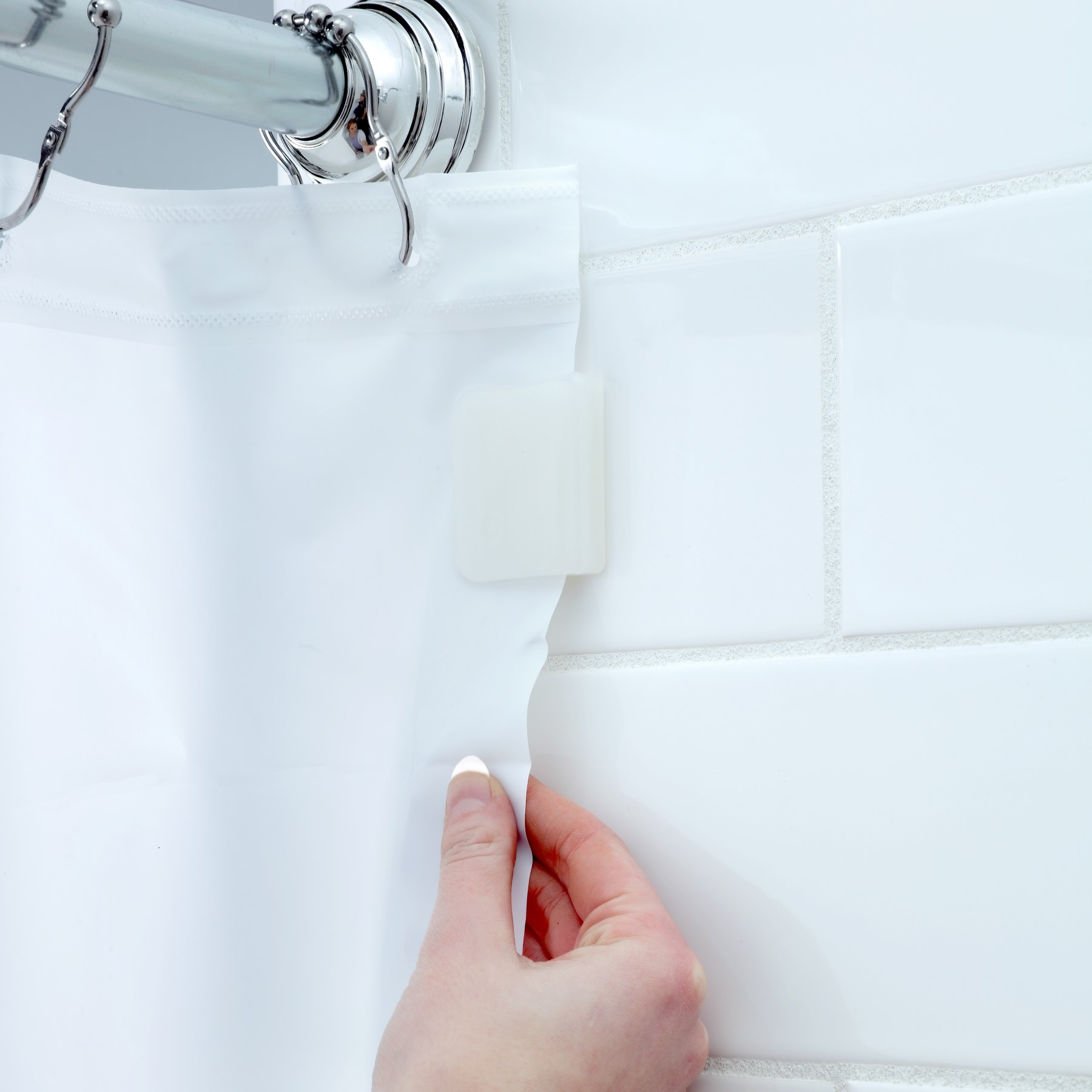 how to install shower curtain clips by