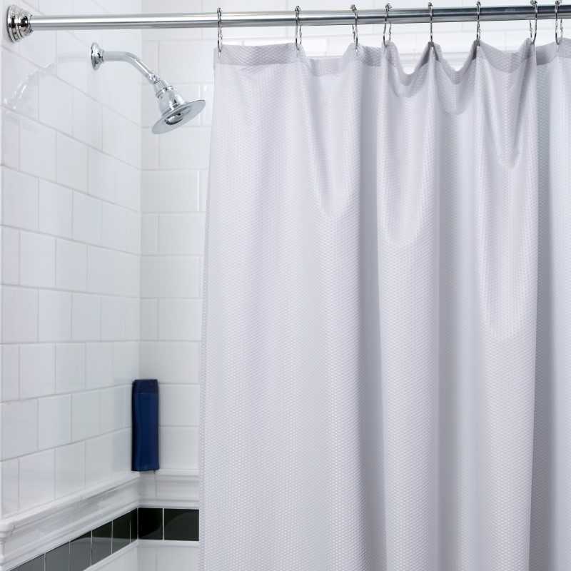 textured fabric shower curtain