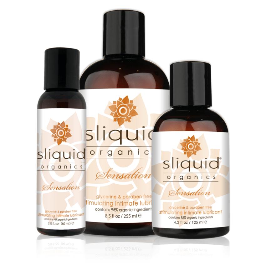 Sliquid - Sliquid Organics - Sensation - Organic Stimulating Lube - Group Shot