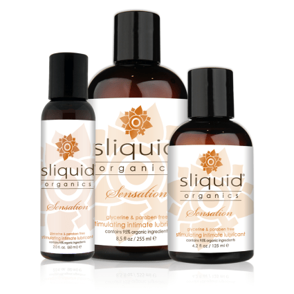 Sliquid - Sliquid Organics - Sensation - Organic Stimulating Lube - Group Shot
