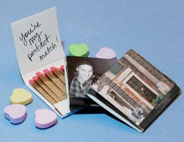 personalized match box with love note